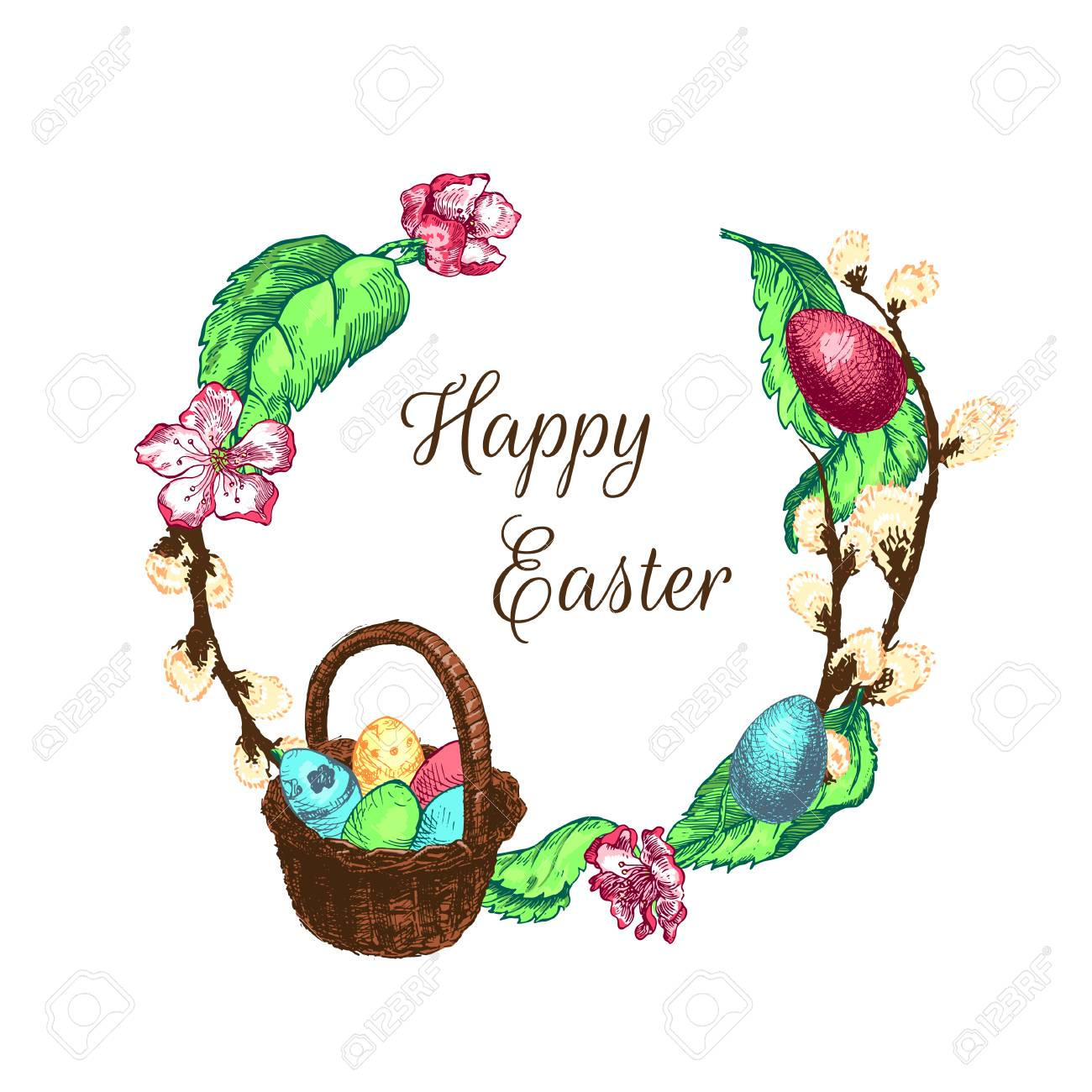 Easter Day Greetings Stock Photo Picture And Royalty Free Image