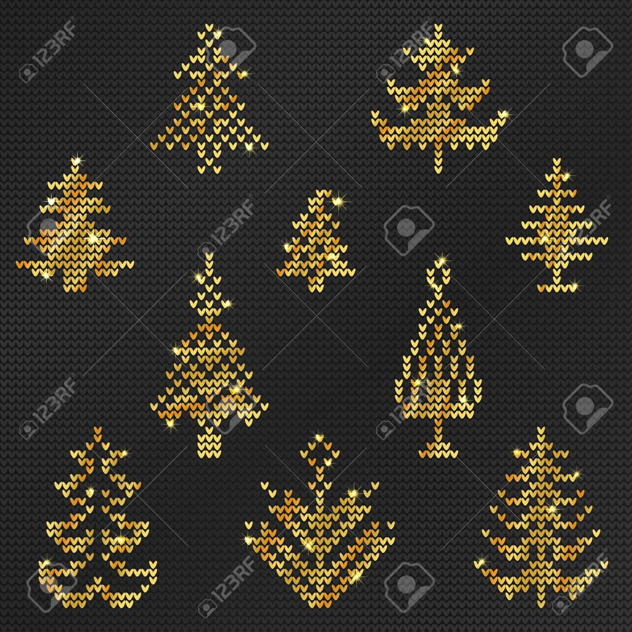 21bddc27dac4 Vector - Vector Illustration of Gold Ugly sweater Pattern for Design