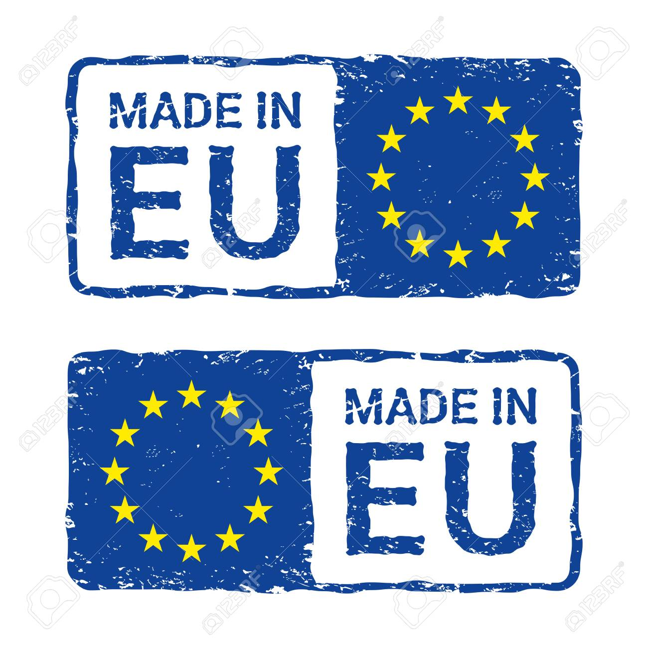 Verbazingwekkend Made In European Union, EU Vector Letter Stamp. Royalty Free MX-56