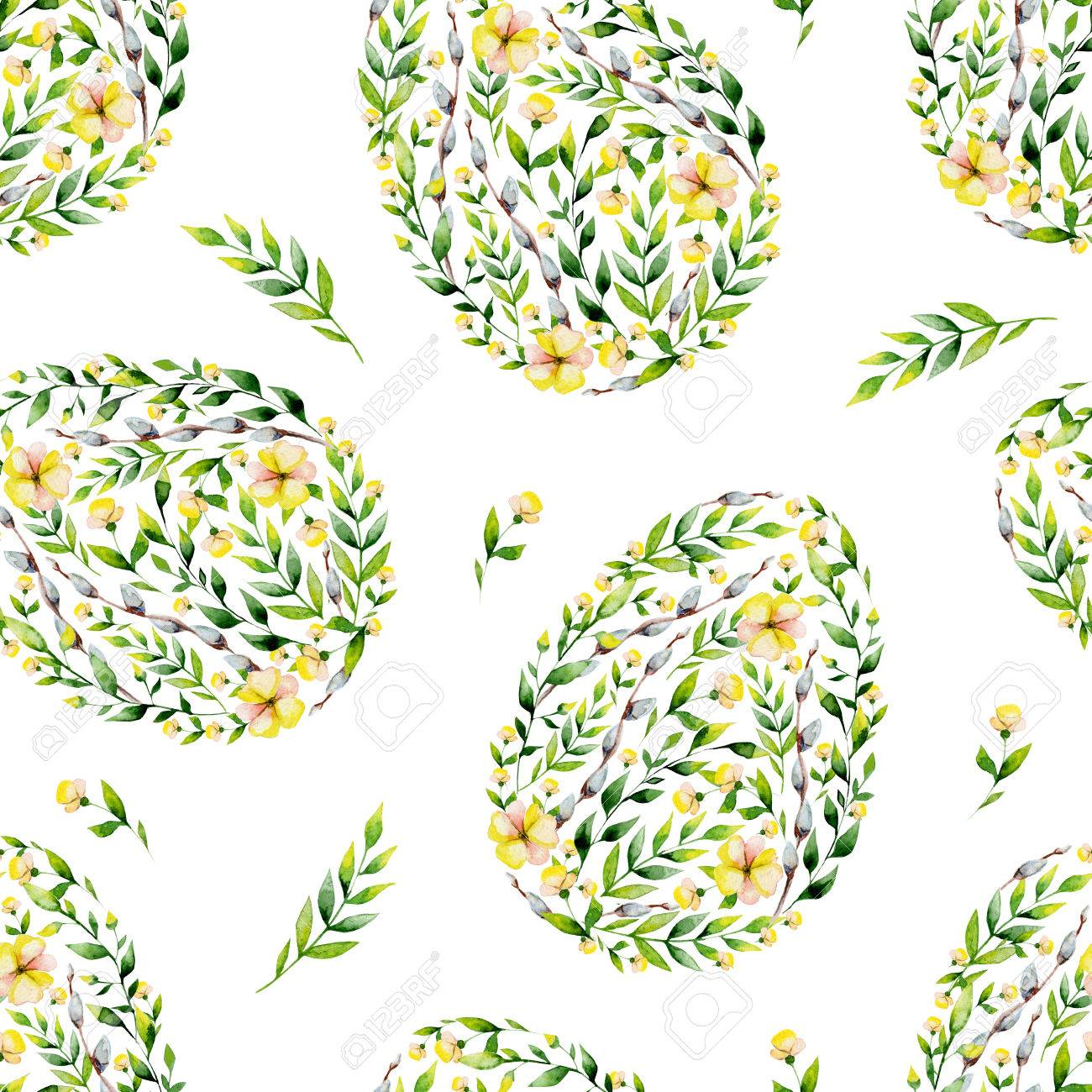Printable Egg Pattern. Easter Egg Flowers Pattern Coloring Page For ...