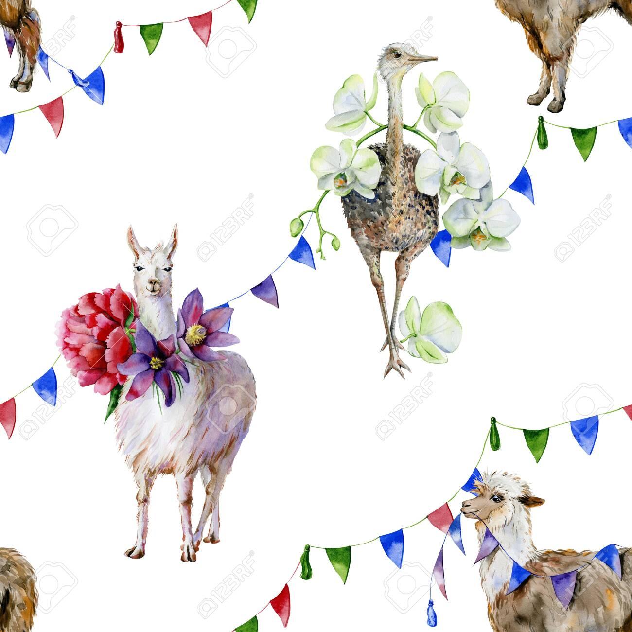 Llama Alpaca Love Watercolor Print Lama Heart Art Print For Kids Animal Wall Art