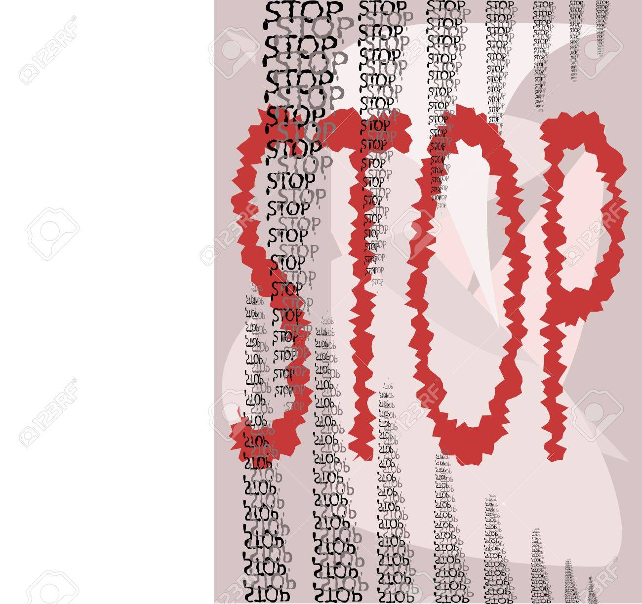 Stop dont go Stock Vector - 12841981