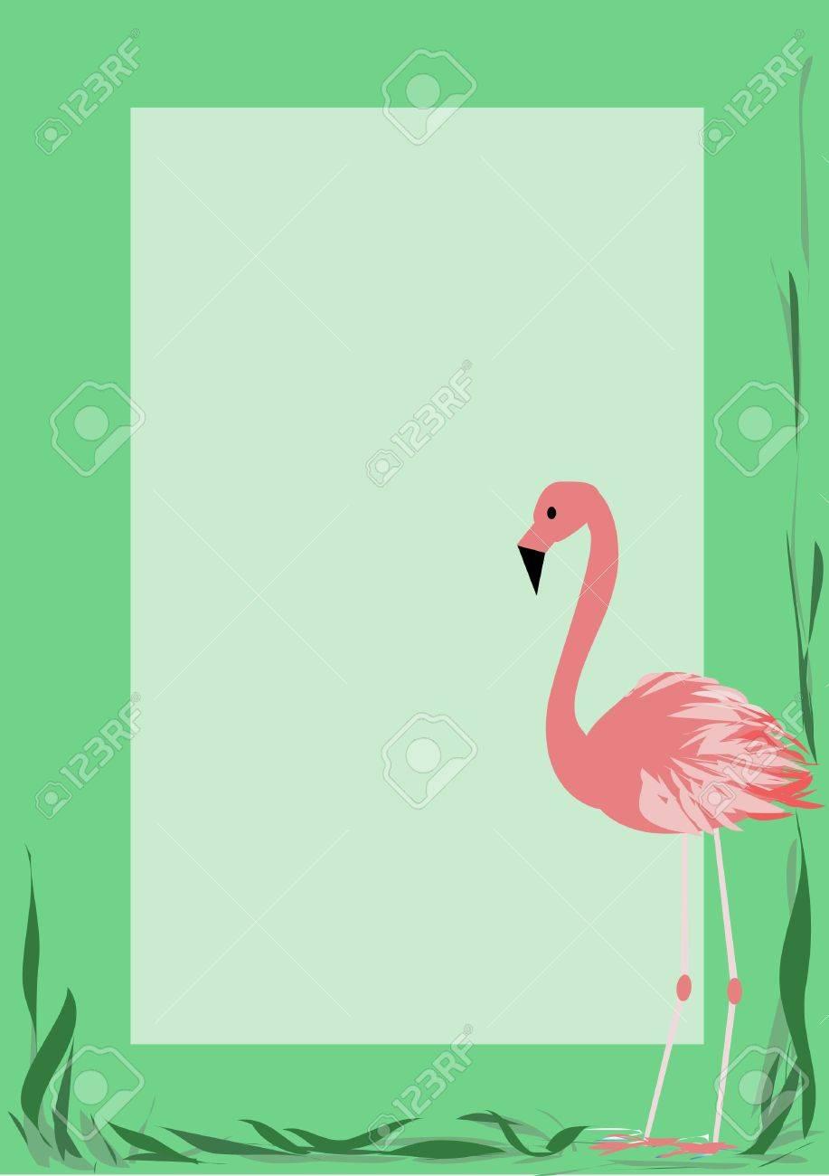 Photoframe with a flamingo Stock Vector - 13162400