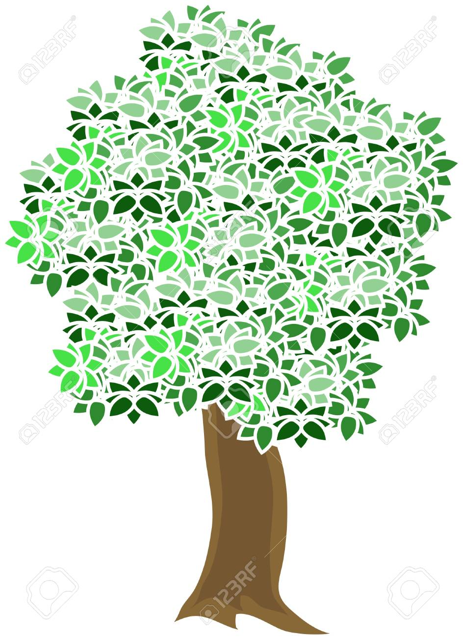 tree with green leaves Stock Vector - 16186417