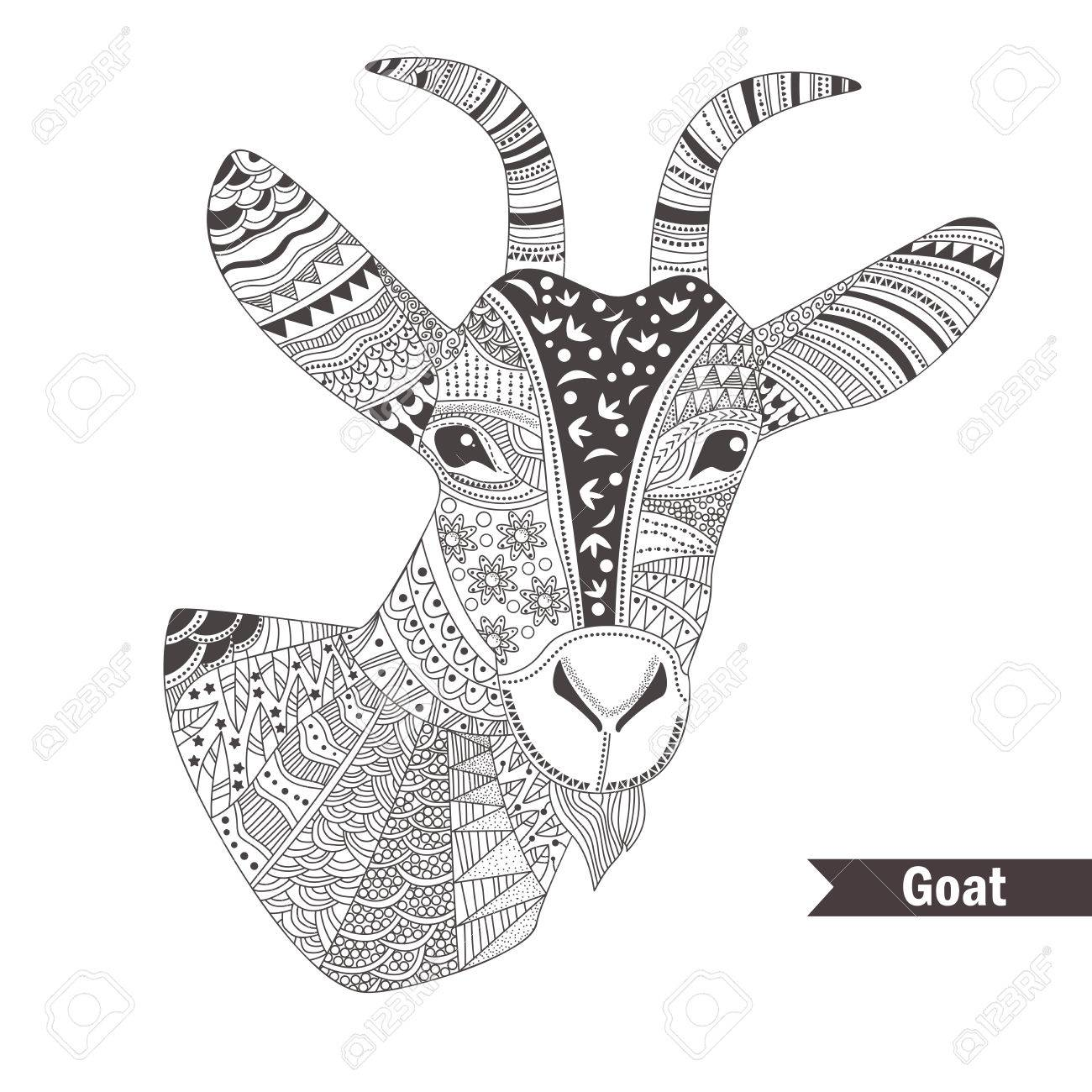 Free Printable Goat Coloring Pages For Kids | Malvorlagen tiere ... | 1300x1300