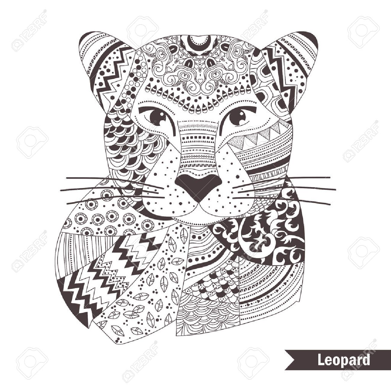 Leopard Coloring Book For Adult Antistress Coloring Pages