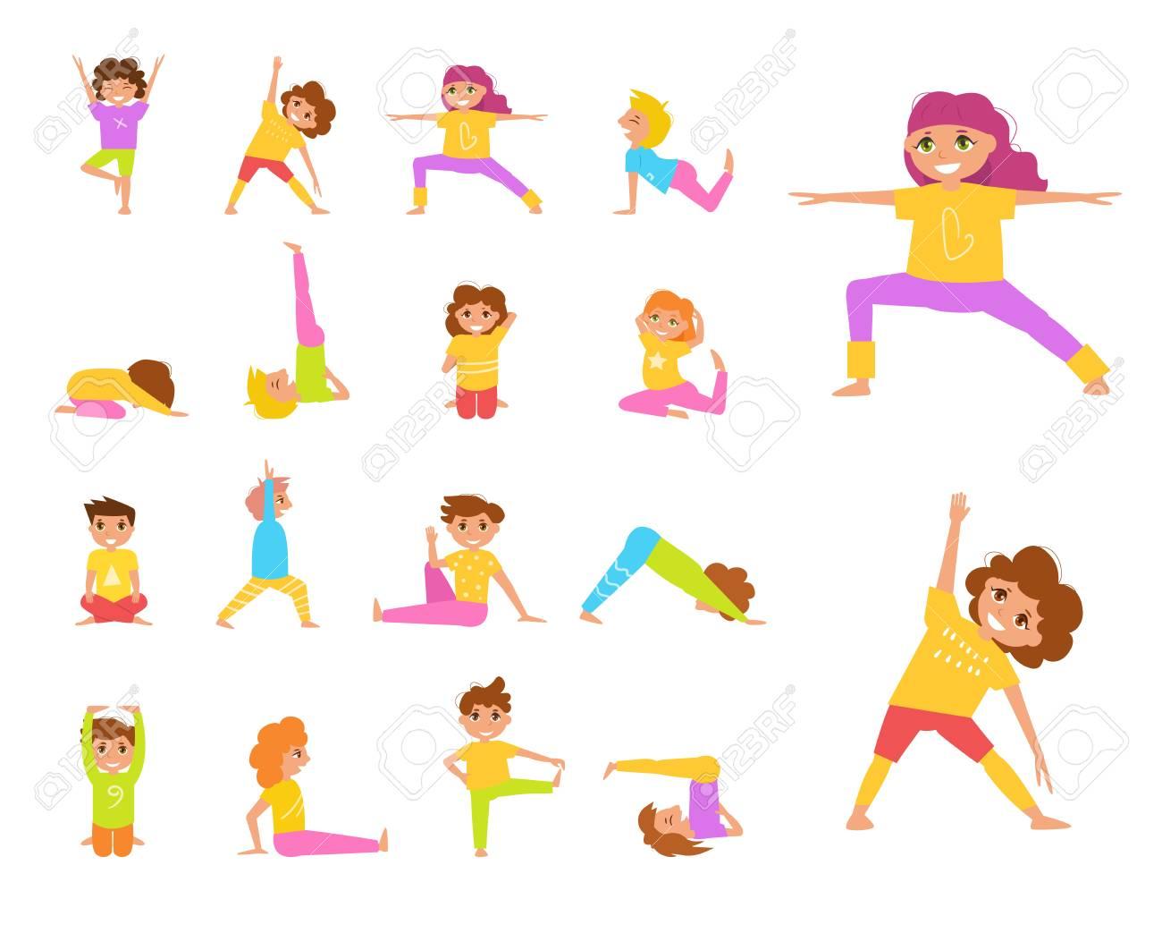 Yoga para niños. Vector. Foto de archivo - 92097780 907059dda150