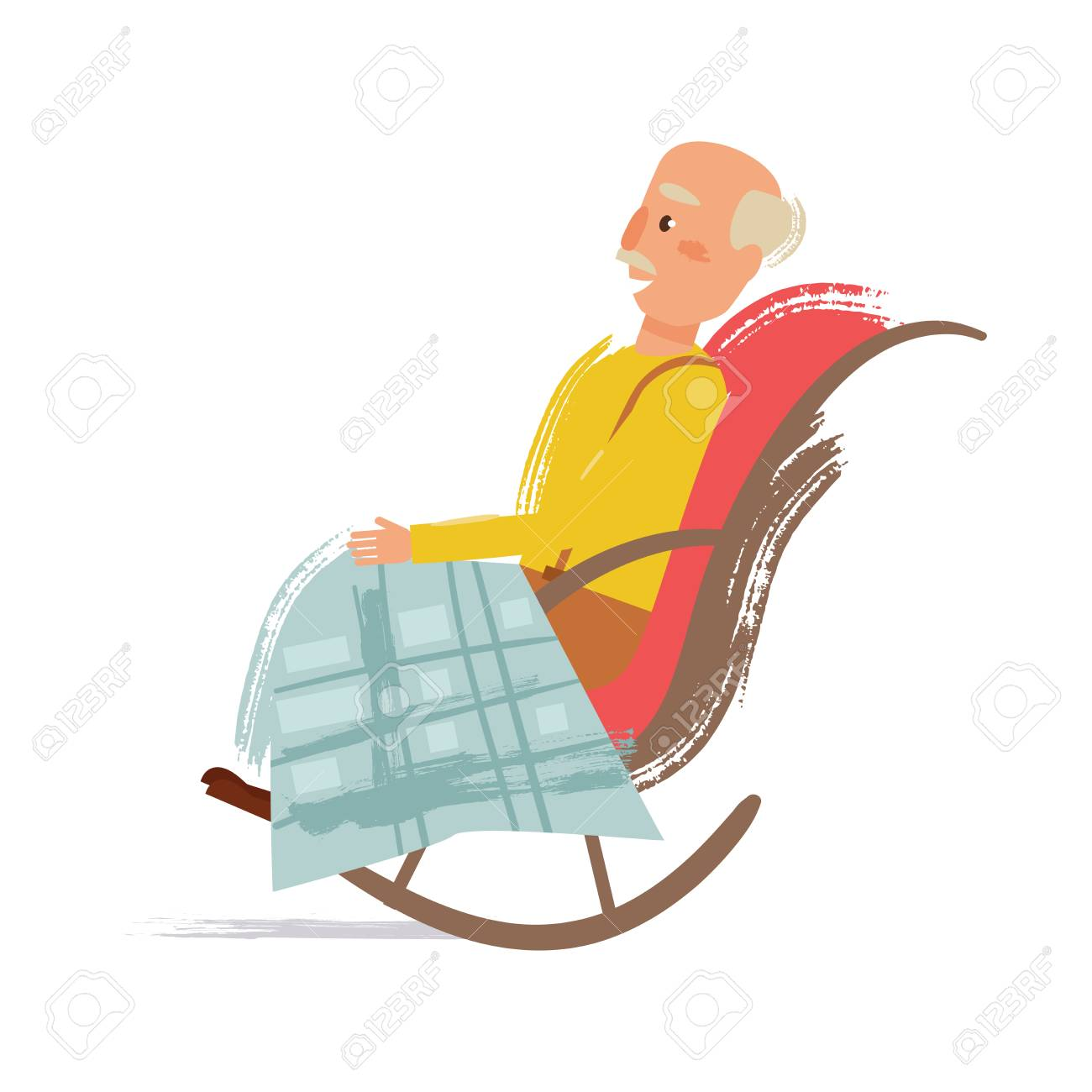Terrific Grandpa In A Rocking Chair Squirreltailoven Fun Painted Chair Ideas Images Squirreltailovenorg
