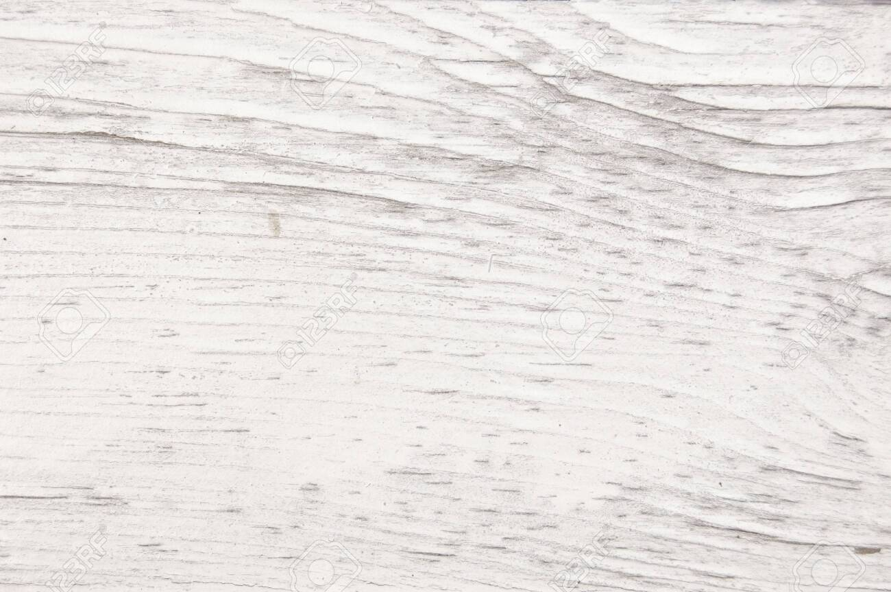 Vintage painted wooden texture. White horizontal background of wood. - 133110976