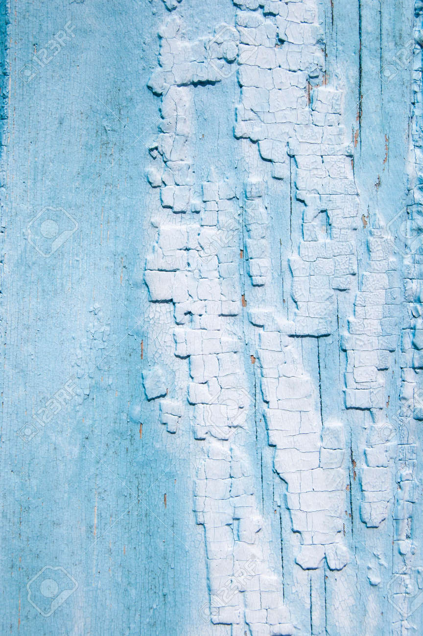 old wooden fence. wood background. planks texture, cracked paint - 164260466