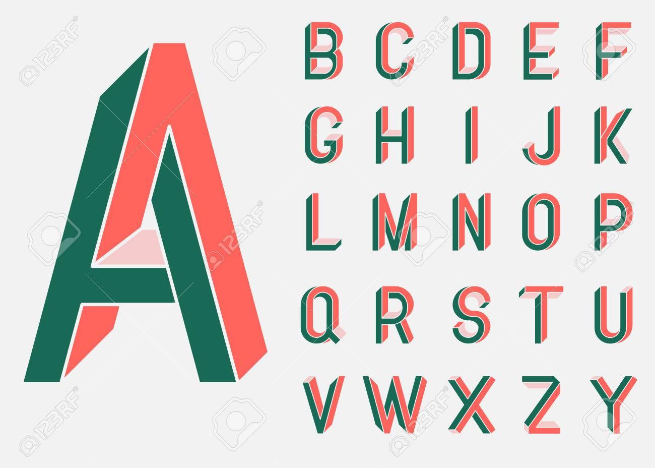 impossible shape font memphis style letters colored letters rh 123rf com vector letter w vector letters grunge