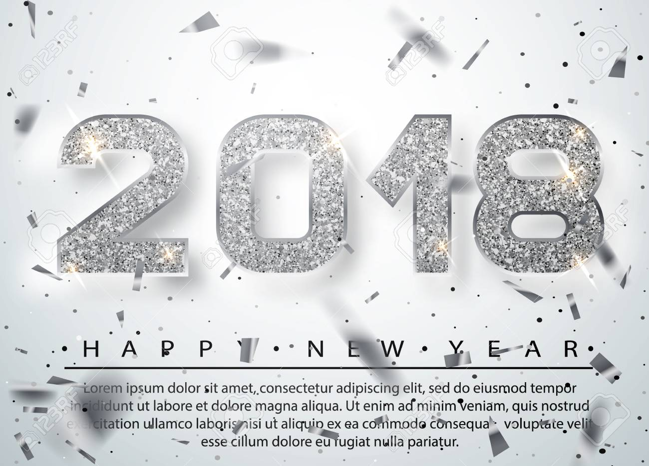 2018 happy new year silver numbers design of greeting card silver numbers design of greeting card silver shining pattern kristyandbryce Choice Image
