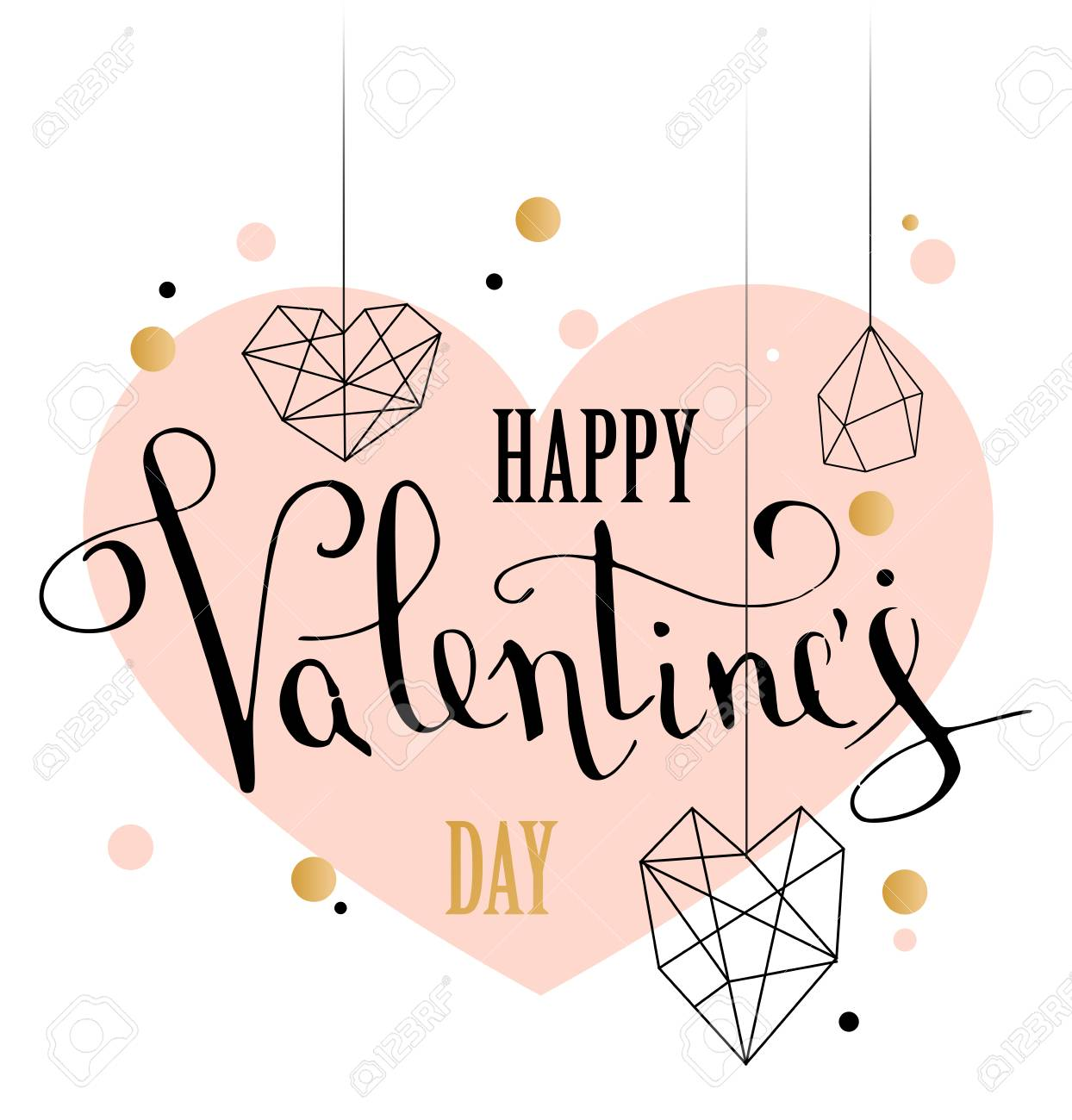 Happy valentines day greeting card royalty free cliparts vectors happy valentines day greeting card stock vector 88934621 kristyandbryce Image collections