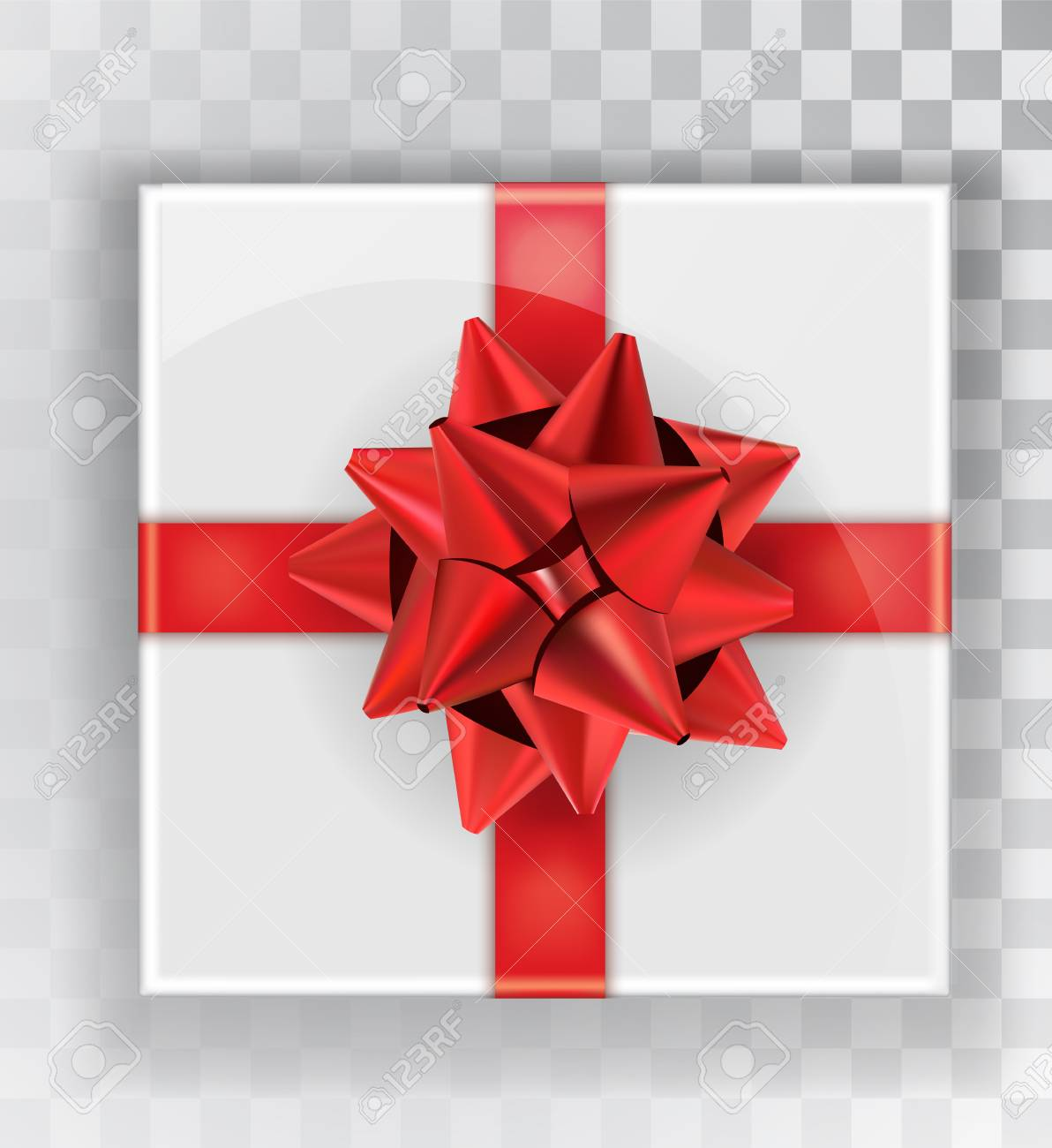 Vettoriale - Pacco Regalo. Contenitori Di Regalo Di Natale Bianco