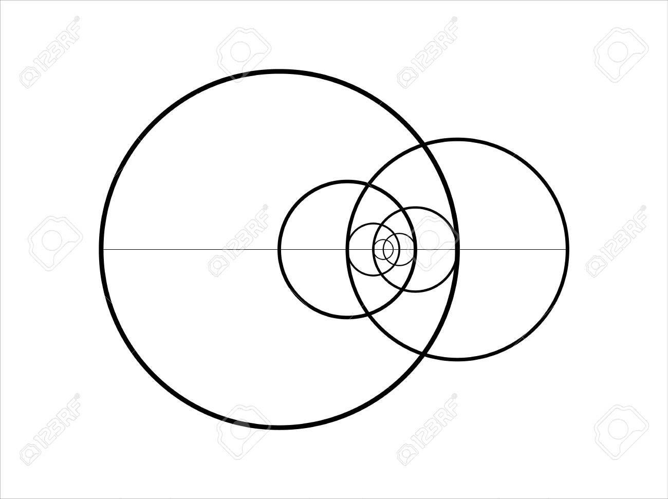 minimalistic style design golden ratio geometric shapes circles rh 123rf com golden ratio vector illustrator golden ratio vector illustrator
