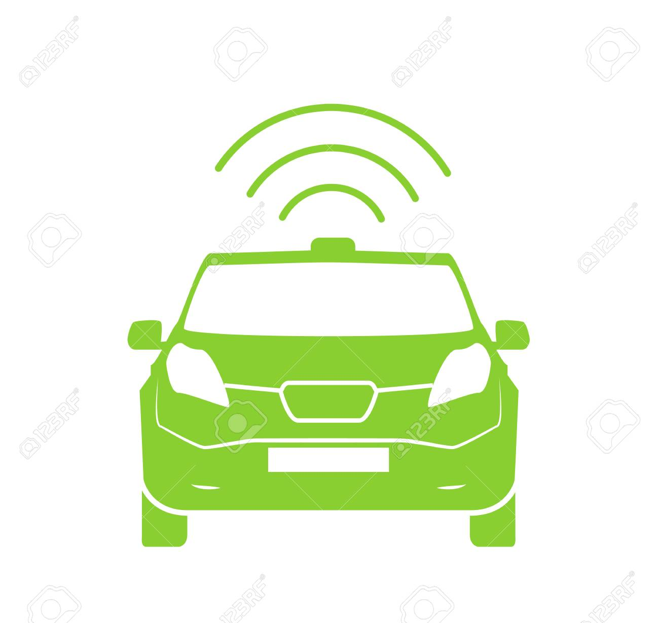 Wireless Car Charging Station Symbol Electric Car Charging Icon