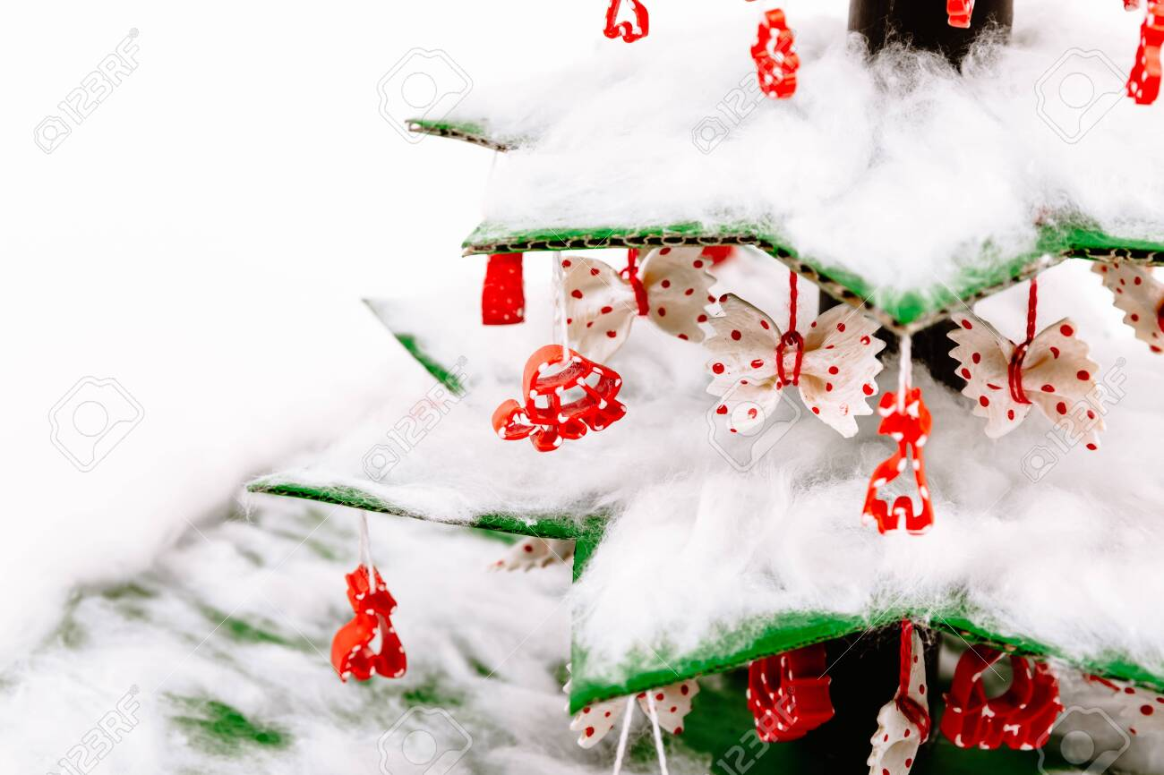 Cotton Wool Christmas Tree Toy