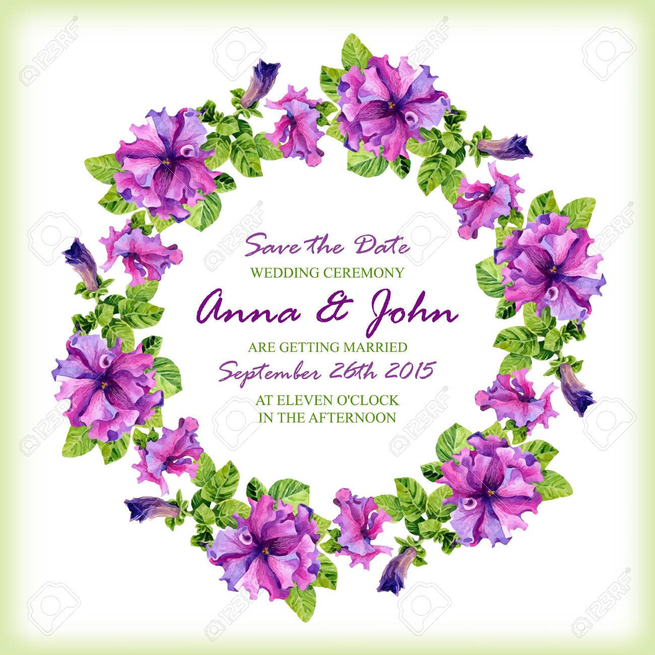 Wedding invitation design template with watercolor floral circular wedding invitation design template with watercolor floral circular frame vector background for special occasions stopboris Images