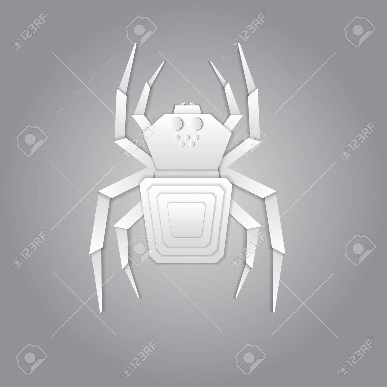 araignée papier origami 3d clip art libres de droits , vecteurs et