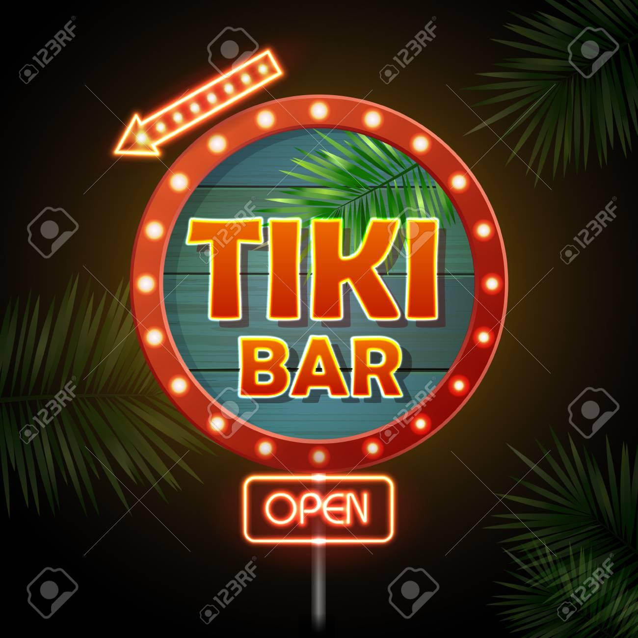 Neon sign. Tiki bar - 79716235