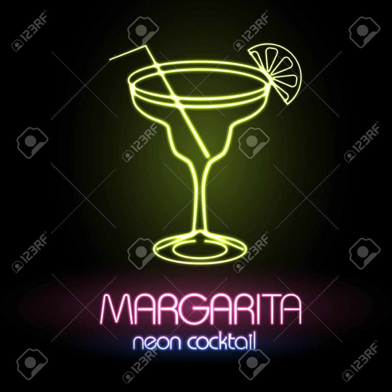 Neon sign. Cocktail - 79716266