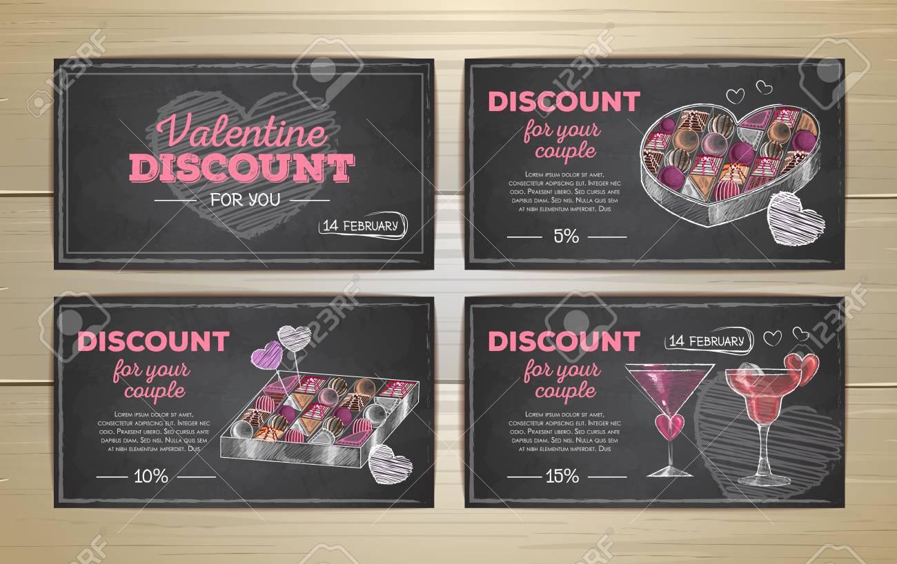 Set of valentine discount cards - 81119778