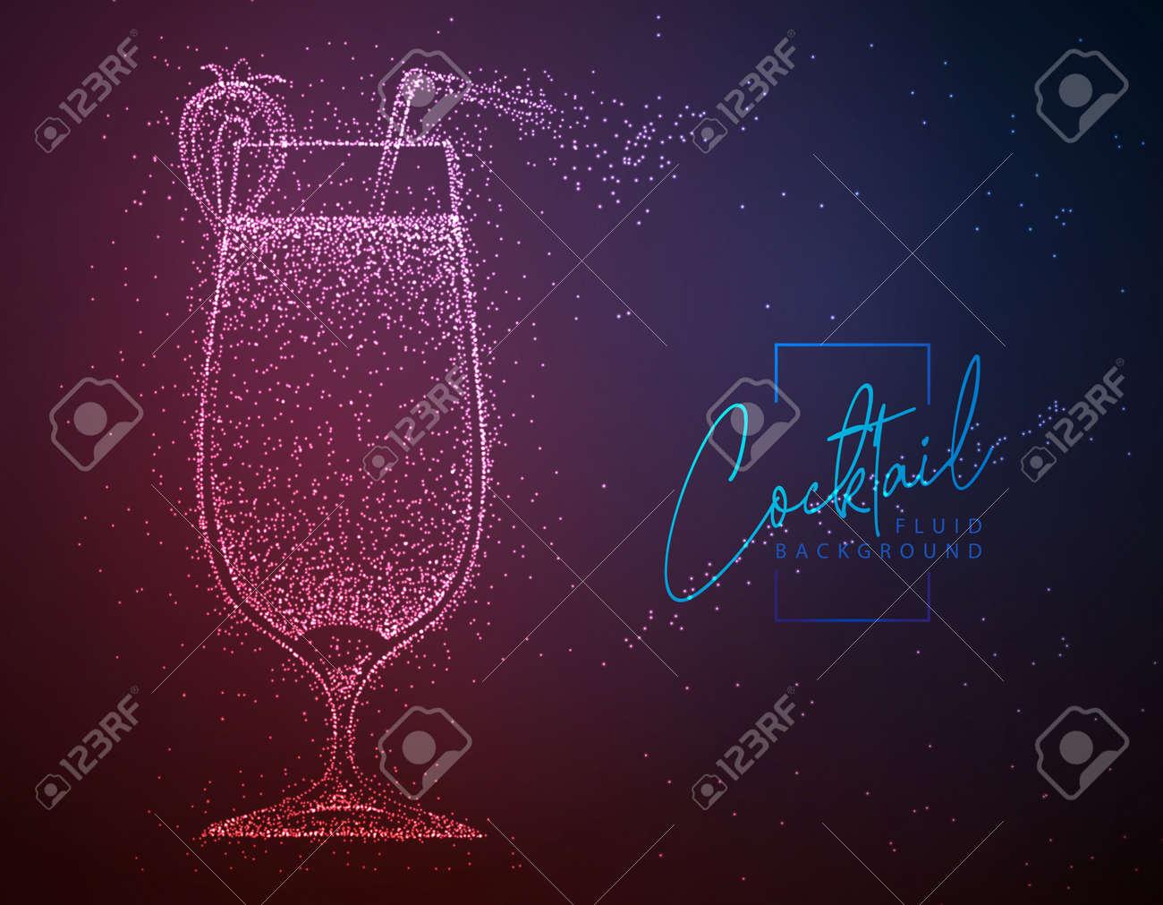 Neon fluid cocktail vector illustration. Fluid background. Daiquiri cocktail - 169211871