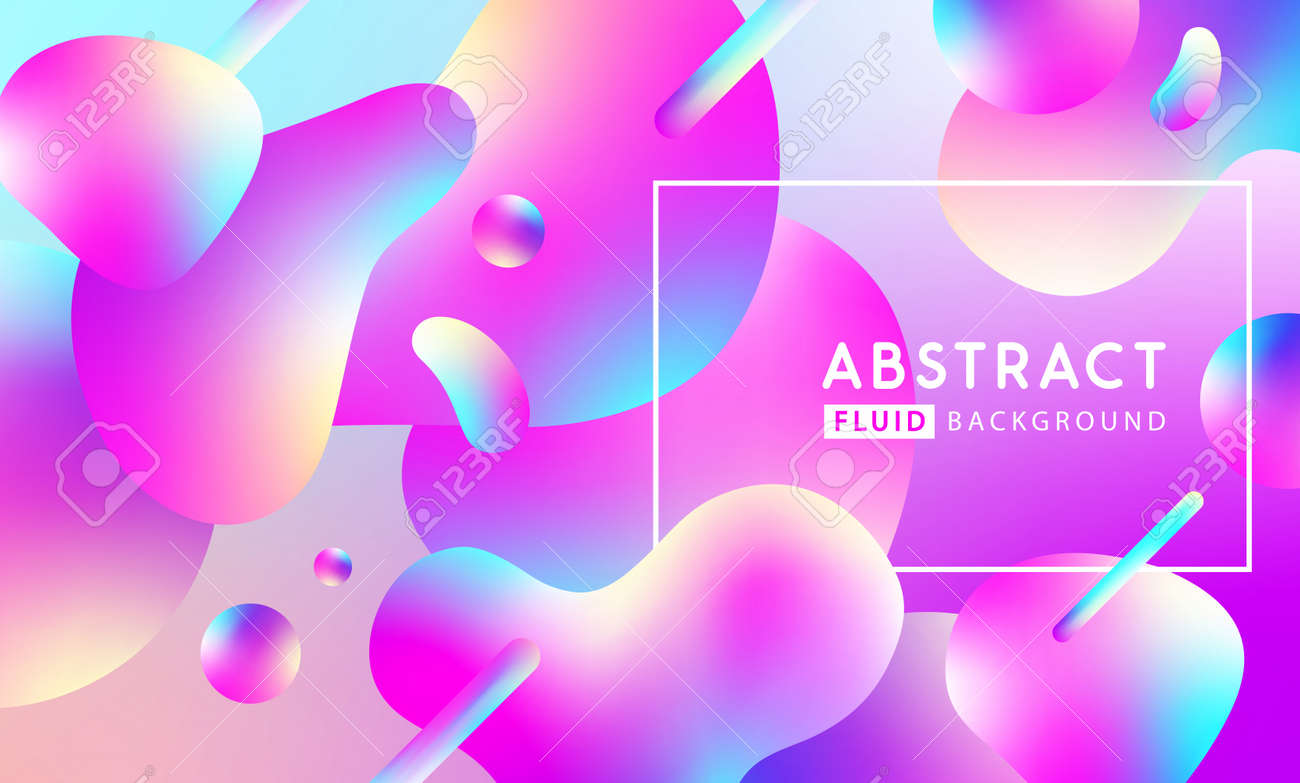 Modern fllow abstract background with free geometric shapes. Liquid Vector illustration - 169522170