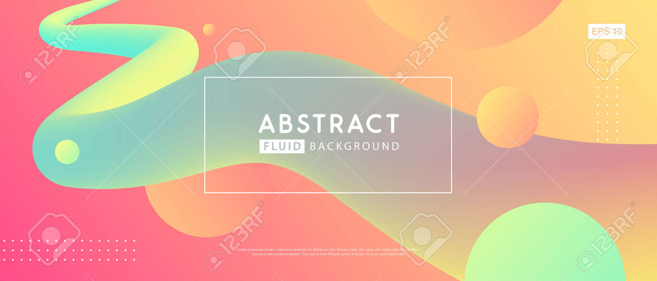 Gradient abstract 3D fluid background. Modern cover design. Vector illustration - 169768967
