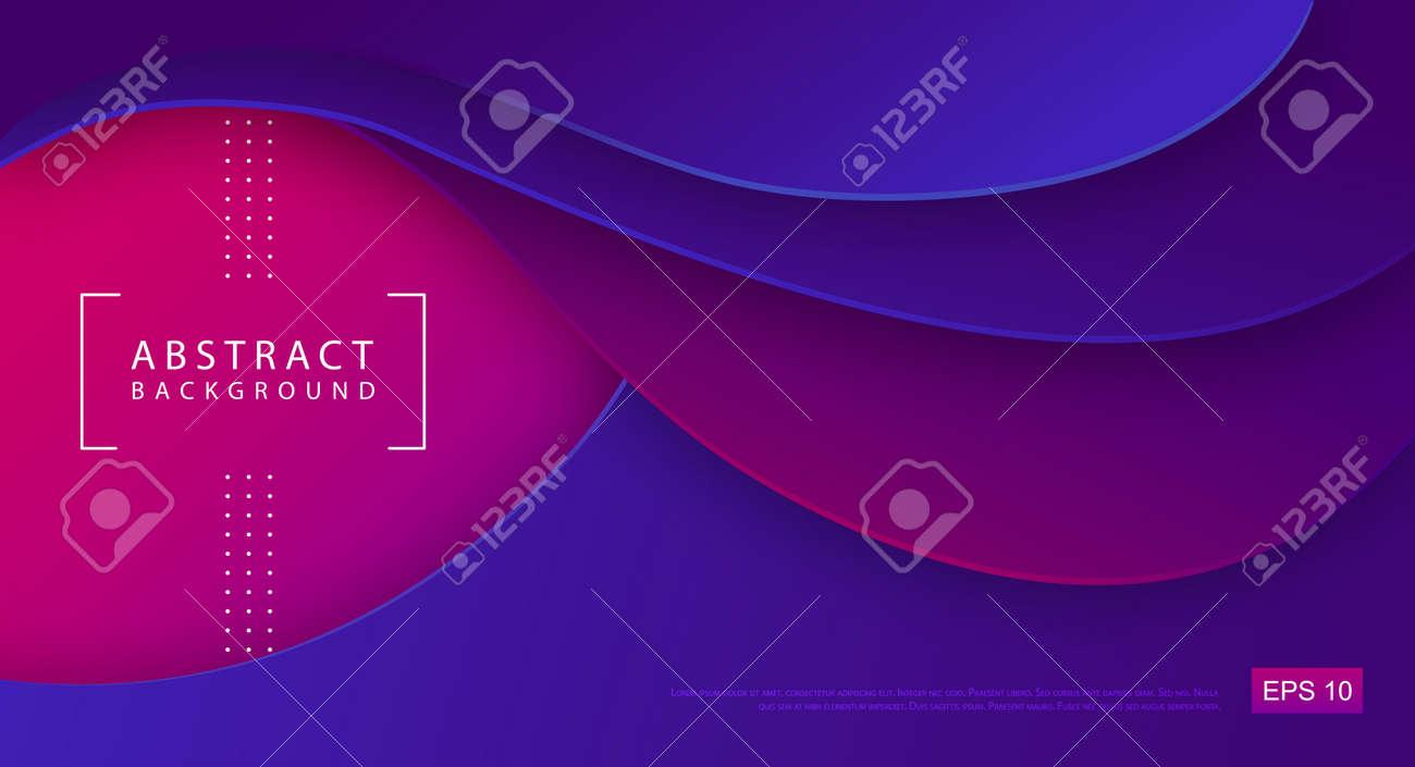 Gradient abstract 3D fluid background. Modern cover design. Paper design. Vector illustration - 169768969