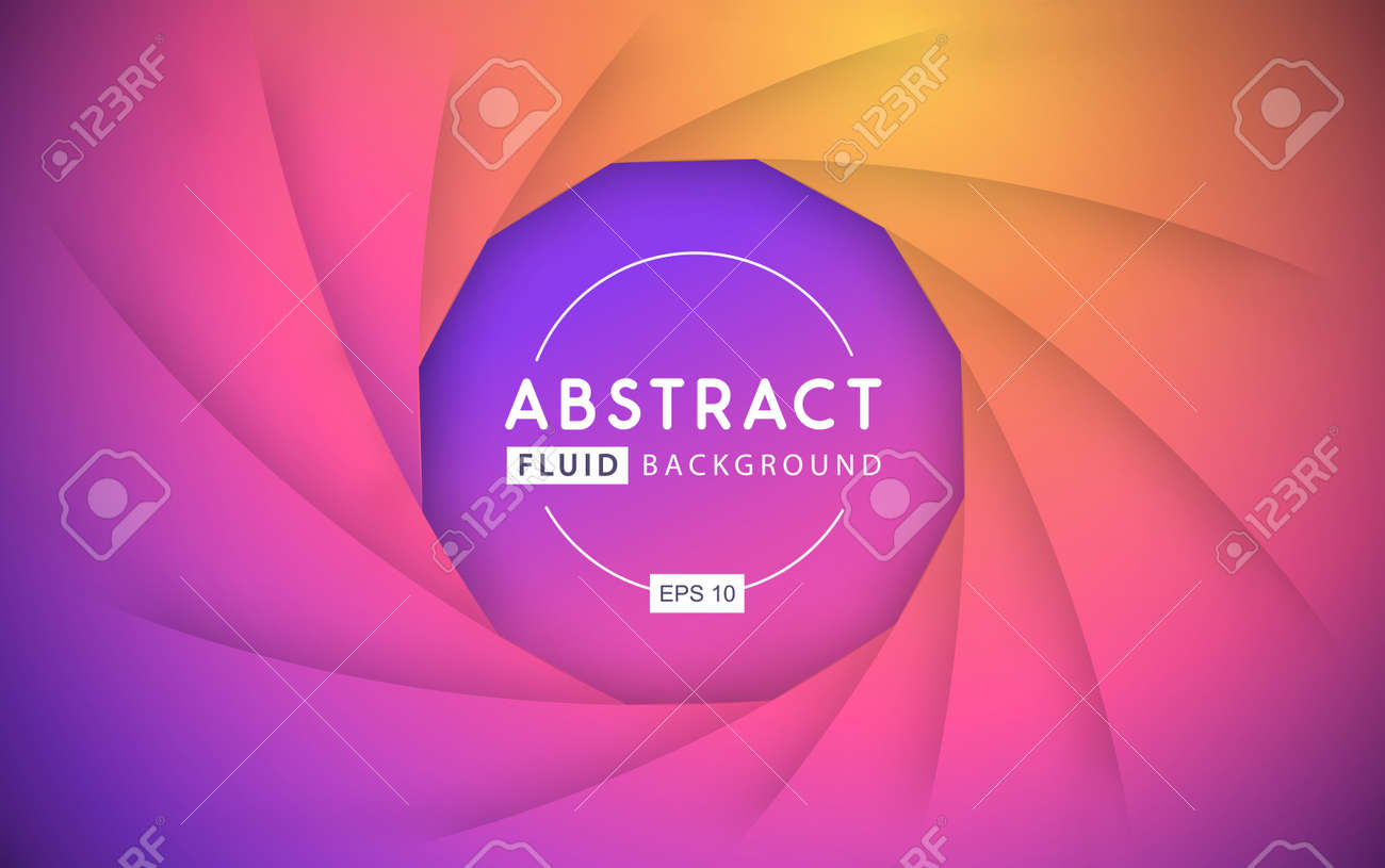 Gradient abstract 3D fluid background. Modern cover design. Vector illustration - 169768975