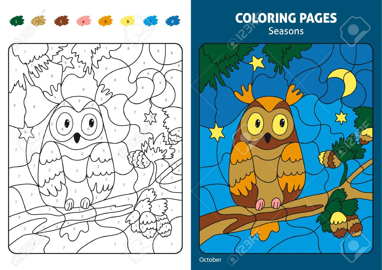 graphic about Seasons Printable called Seasons coloring website page for small children. Printable layout coloring e-book