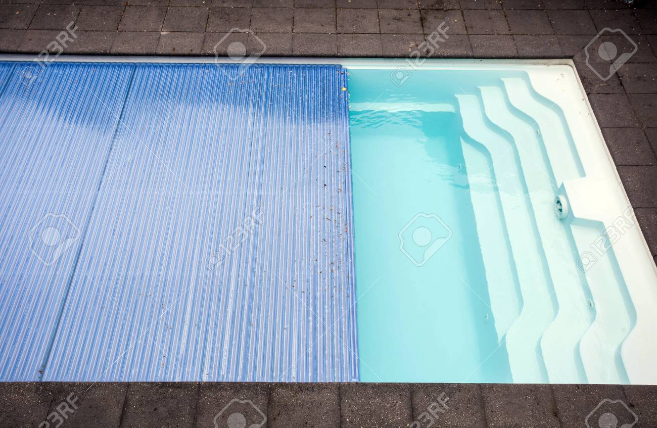 Swimming pool cover detail for protection and heat the water,..