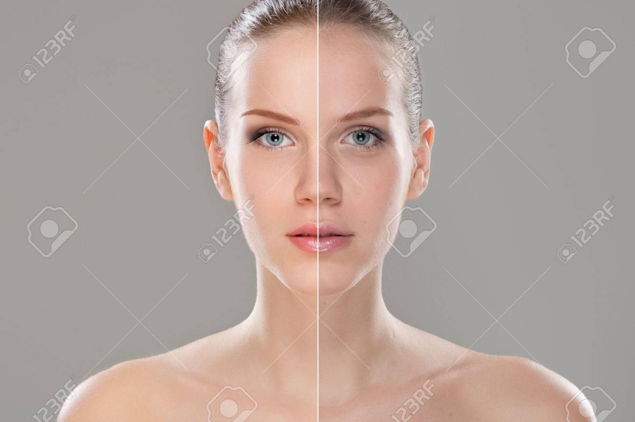 Woman face retouched - 63536699