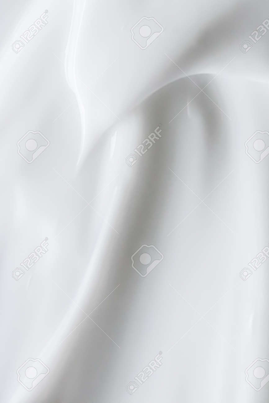 Pure white cream texture as abstract background, food substance or organic cosmetics - 157901958