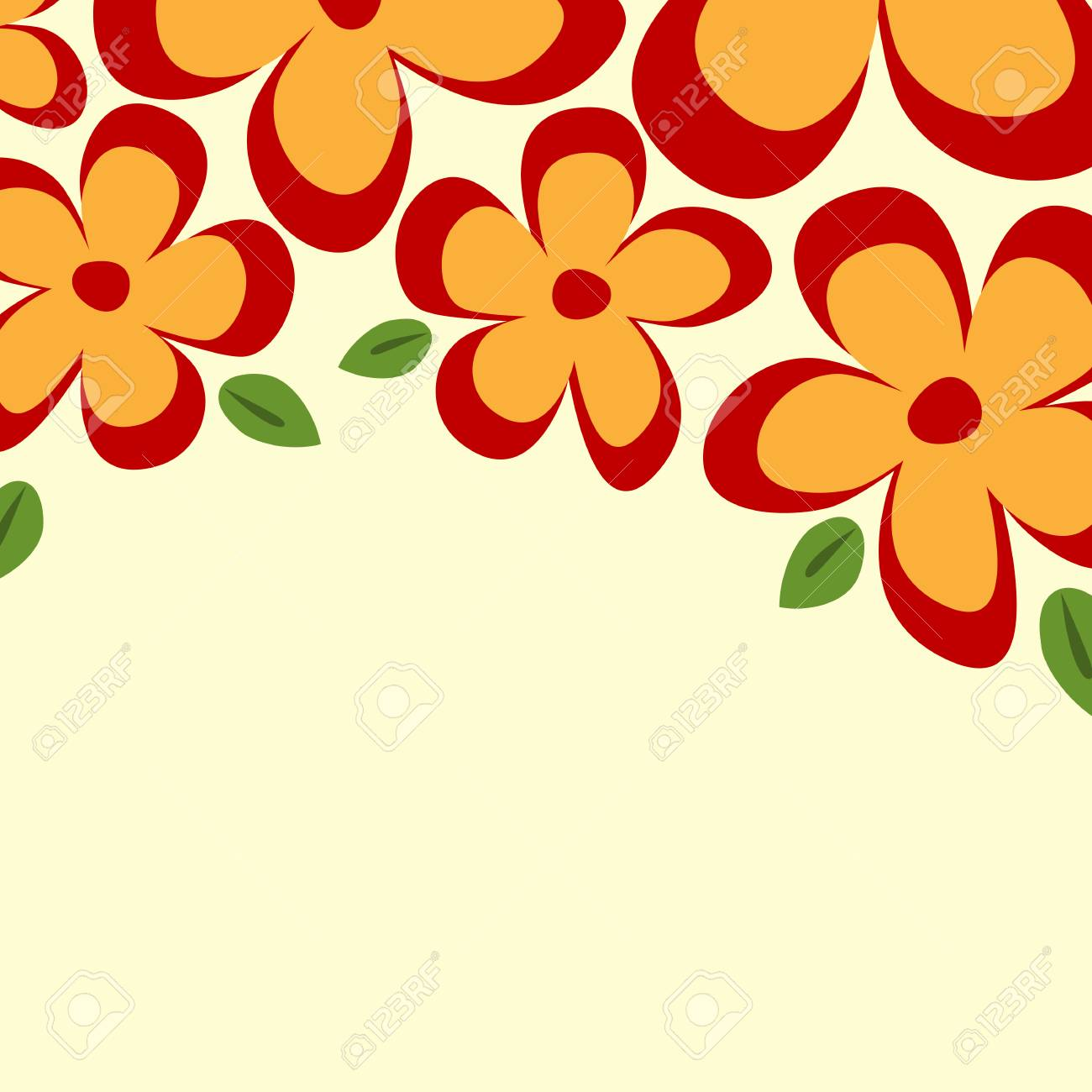 Yellow Logo With Red Flower Border Vector And Clip Art Inspiration
