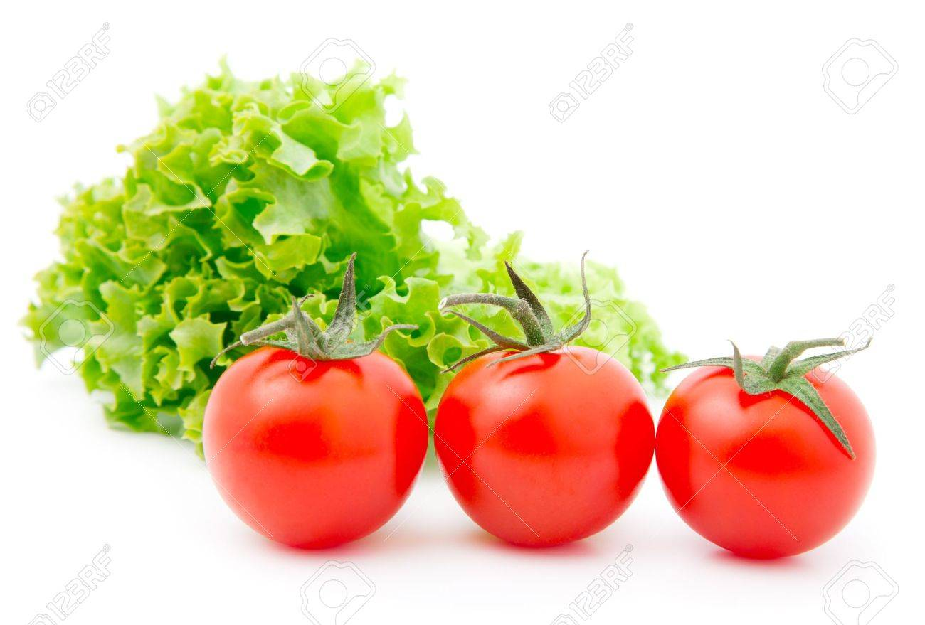 Red cherry tomato and salad lettuce - 10117846