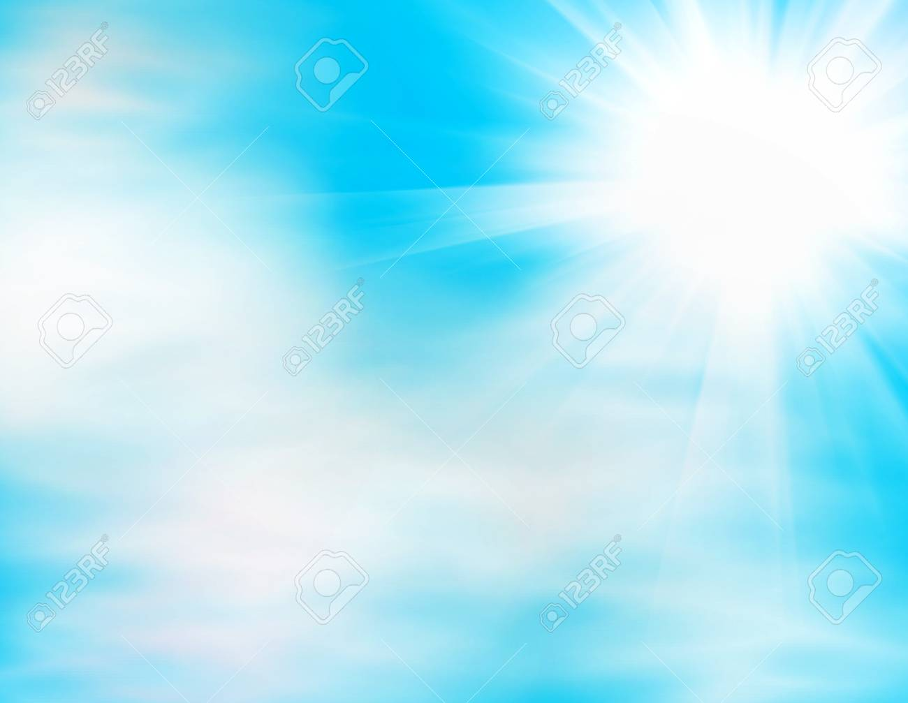 Rays of sun through the clouds Stock Photo - 13299364
