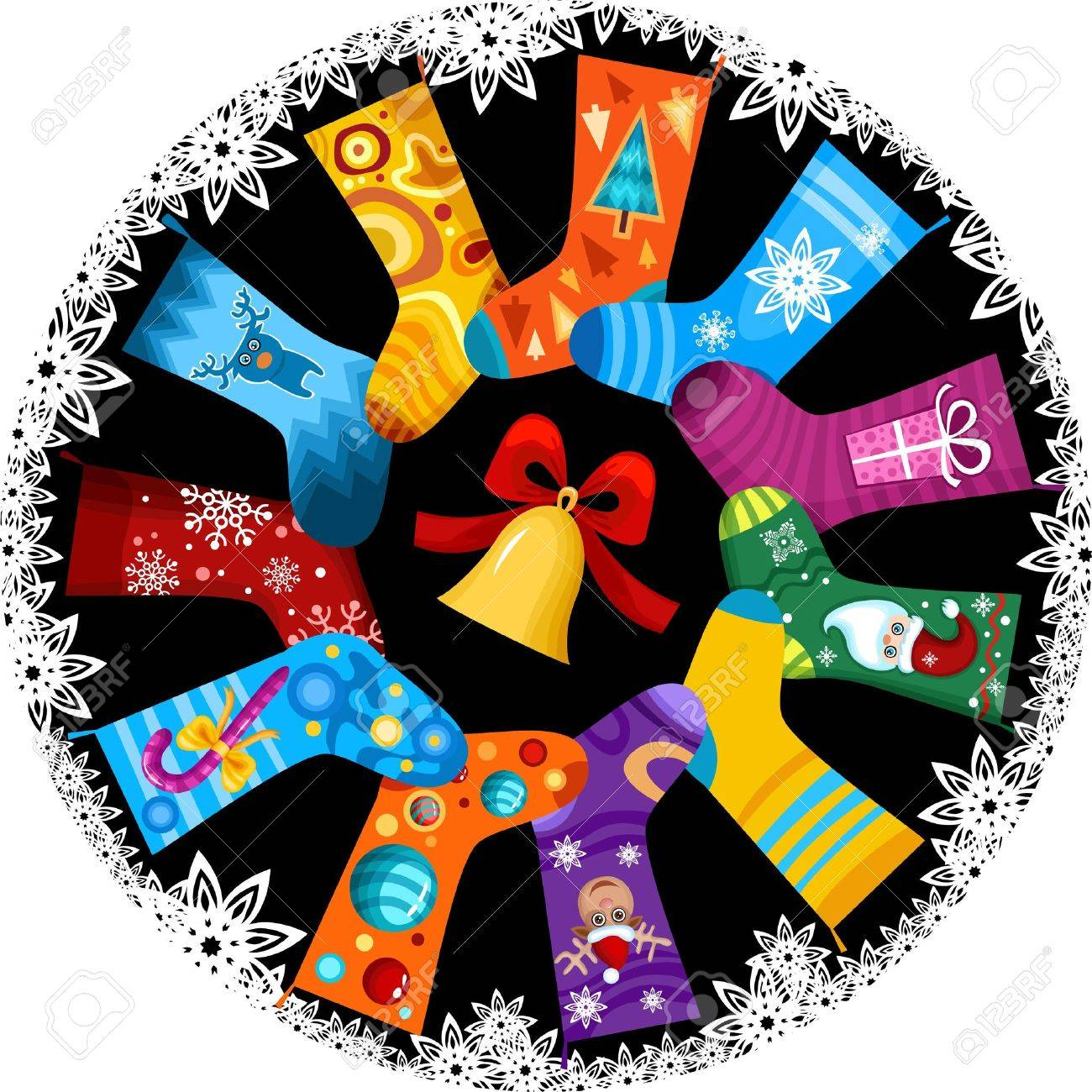 christmas stocking royalty free cliparts vectors and stock