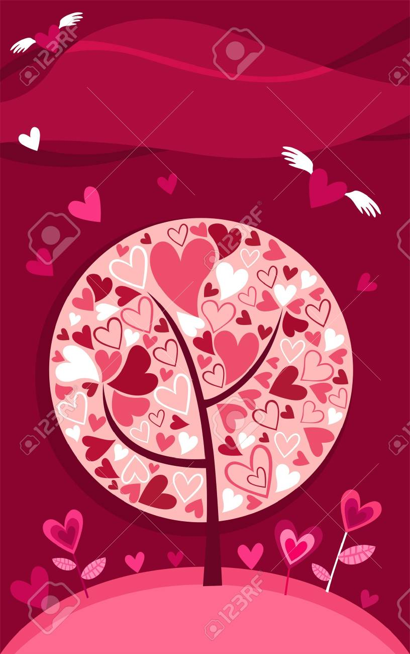 Valentine card Stock Vector - 6134091