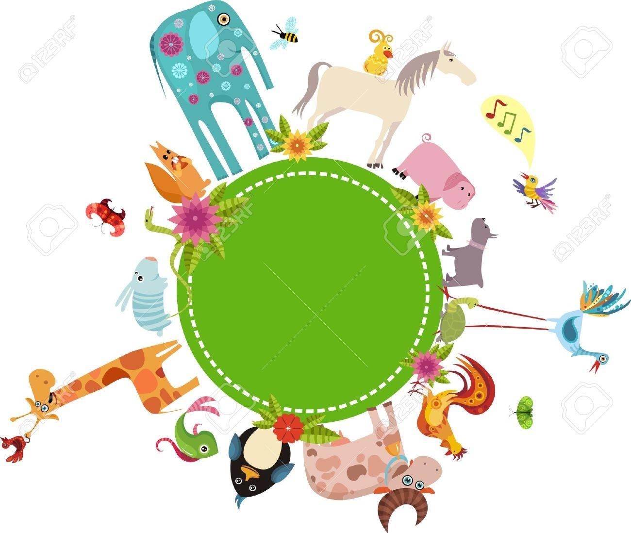 animal card Stock Vector - 7107371
