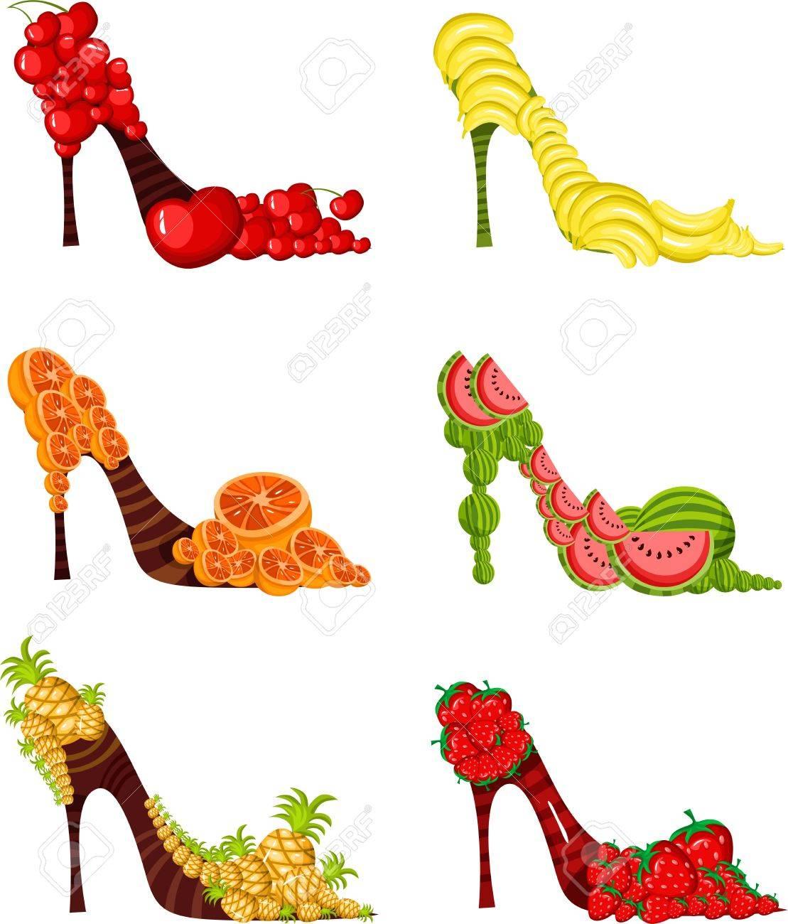 scarpe frutta