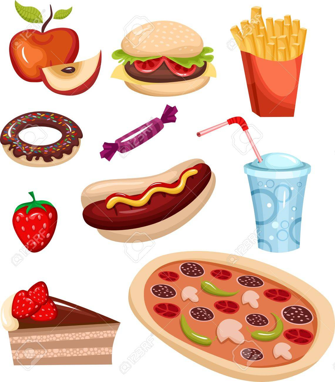 fast food set Stock Vector - 7318167