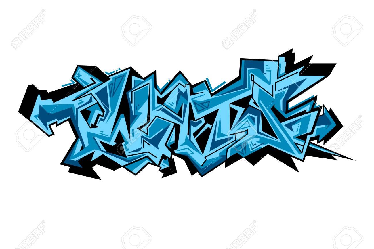 Street Art Von Graffiti. Städtische Zeitgenössischen Kultur ...