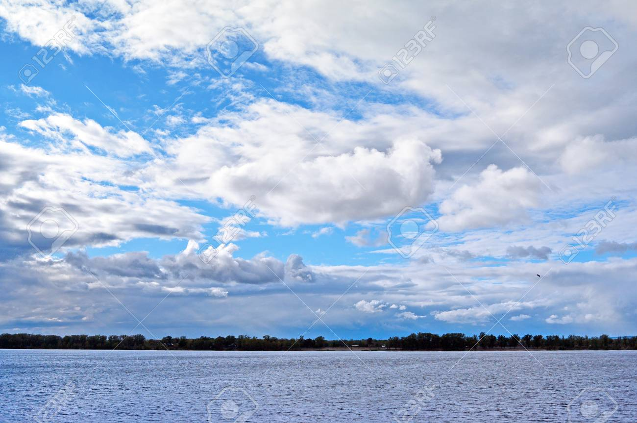 View On Volga River From Samara City At Sunny Cloudy Day Beautiful Stock Photo Picture And Royalty Free Image Image 96593499