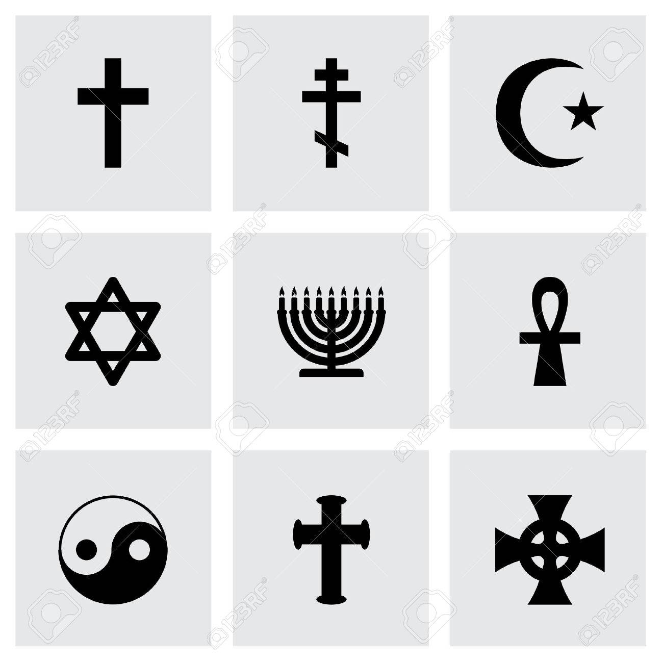 Religious symbols icon set on grey background royalty free religious symbols icon set on grey background stock vector 38739535 biocorpaavc