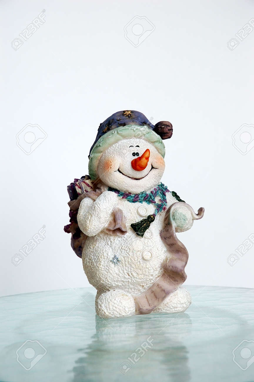 Vintage Snowman On Ice Stock Photo Picture And Royalty Free Image