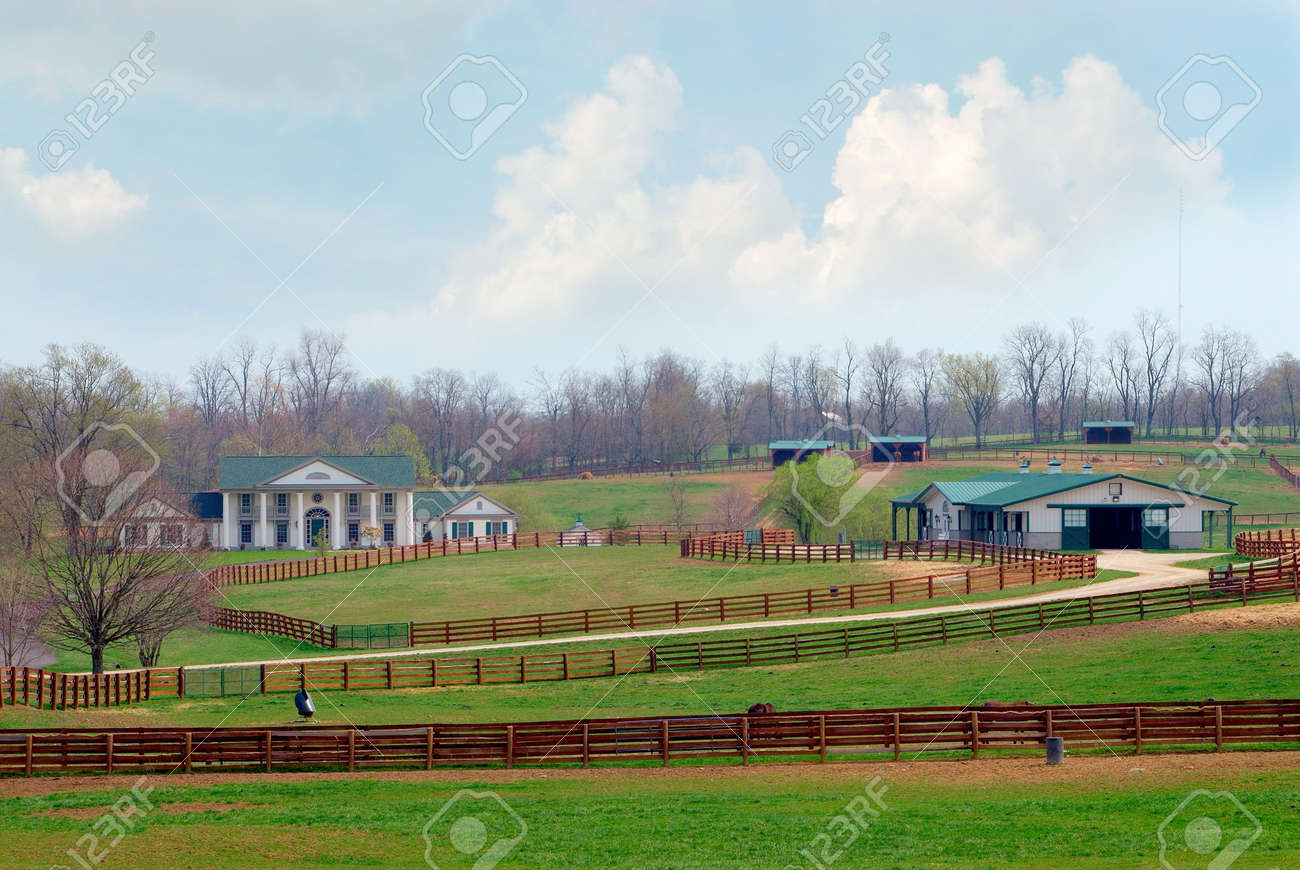 A Beautiful Horse Ranch Near Lexington Kentucky Usa Stock Photo Picture And Royalty Free Image Image 861783