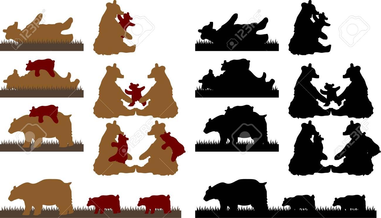 vector illustration for a bear Stock Vector - 2539598