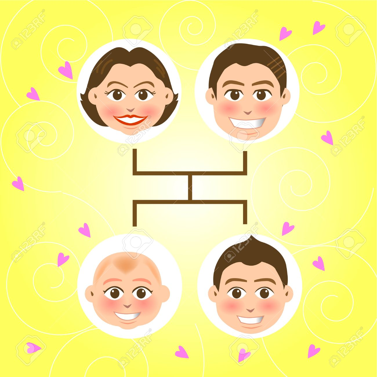 vector illustration for a relationship for a family tree, father, mother and sons Stock Vector - 2602765